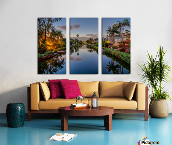 Venice Canal At Twilight Split Canvas print