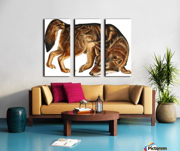 Fox Print | British Wildlife Art | A3 A4 A5 | Fox Lover Gift | Fox Illustration | Fox Painting | Fox Nursery Wall Art | British Animal Print Split Canvas print