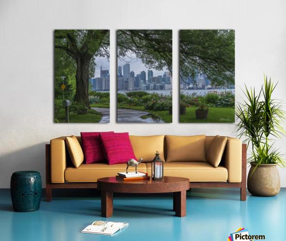 Downtown Toronto seen from Wards Island Split Canvas print