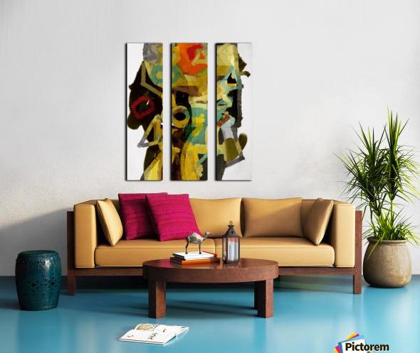 Totem Split Canvas print