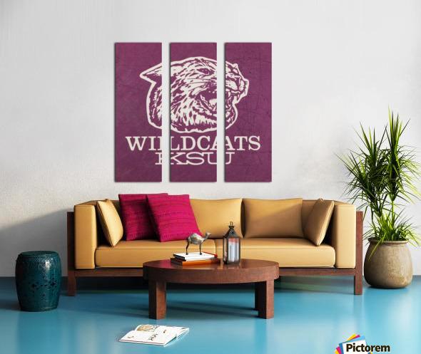Retro Eighties KSU Wildcats Art Split Canvas print