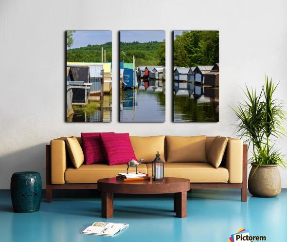 Hangars    bateaux - Boathouses Split Canvas print