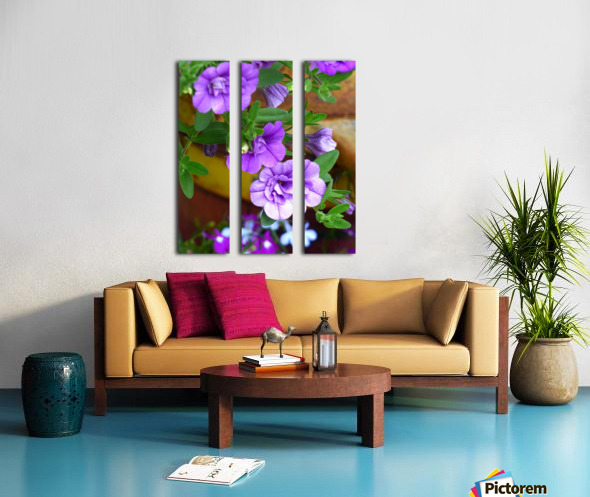 Purple Petals Split Canvas print