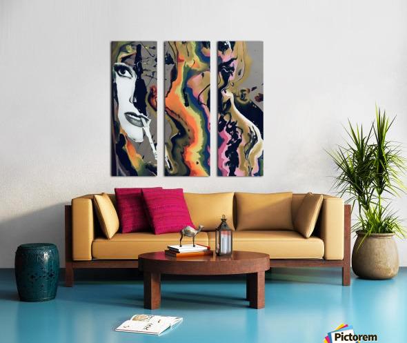 One in Vermillion Split Canvas print