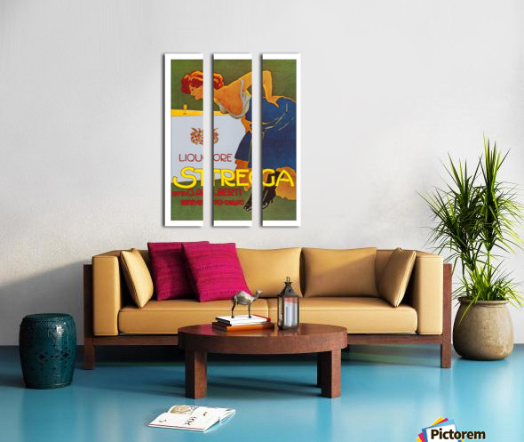 La Donna in Blu poster Split Canvas print