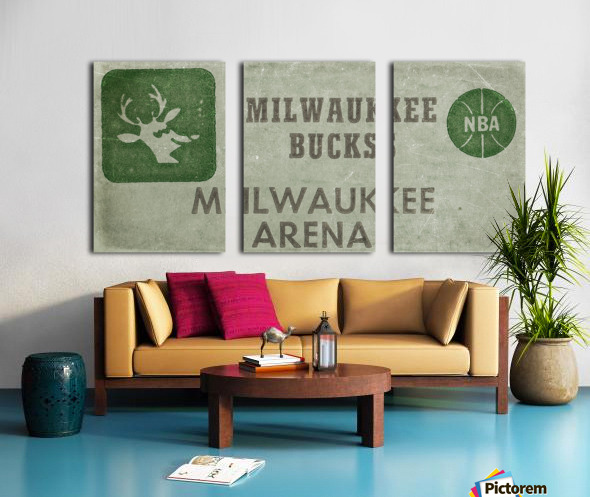 1977 Milwaukee Bucks Ticket Stub Remix Art Split Canvas print