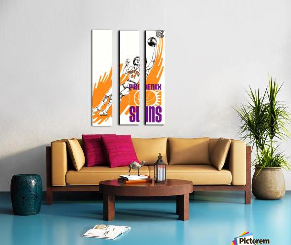 1977 Phoenix Suns Basketball Art Split Canvas print