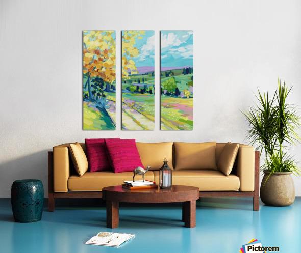Farm Road Split Canvas print