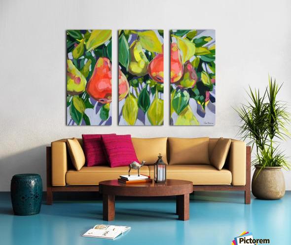 Too Many Pears Split Canvas print