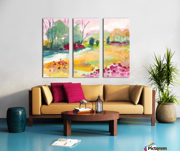 Wildflower Field Split Canvas print