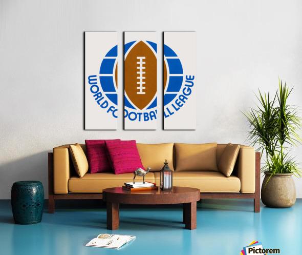 1974 World Football League Logo Art Split Canvas print