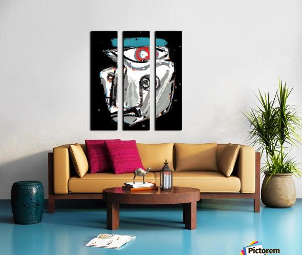 Yo Split Canvas print
