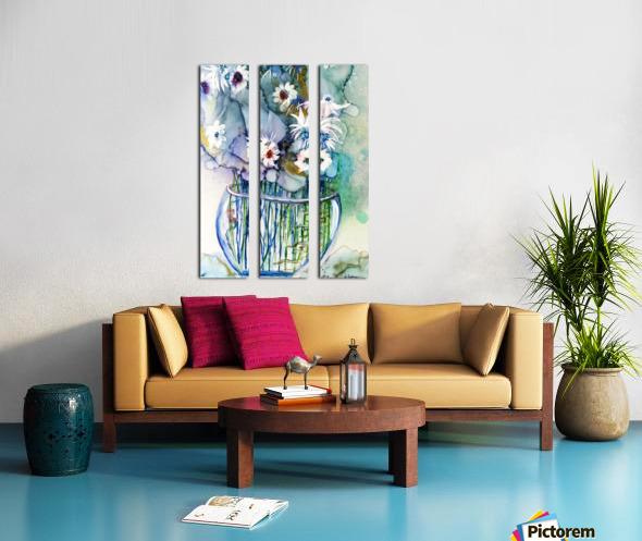 Blue Floral Toile Multi-Panneaux