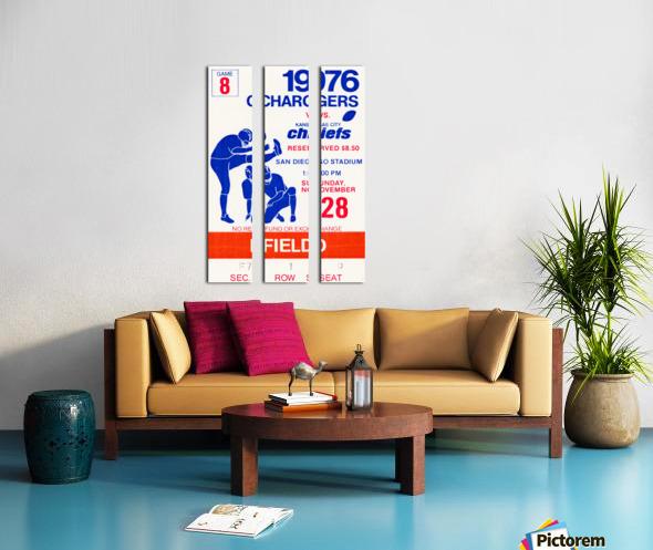 1976 San Diego Chargers vs. Kansas City Chiefs Split Canvas print