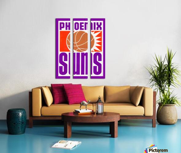 1970 Phoenix Suns Basketball Art Split Canvas print