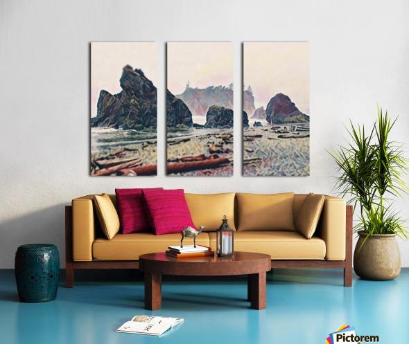 Ruby Beach Split Canvas print