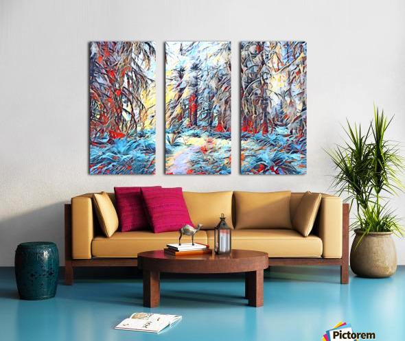 Hoh Rainforest Split Canvas print