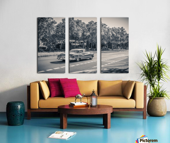 American oldtimer car from the 1950s Split Canvas print