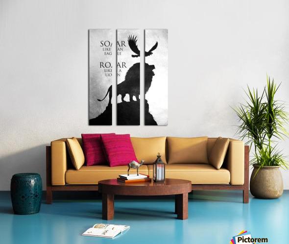 lion and eagle Motivational Wall Art Split Canvas print