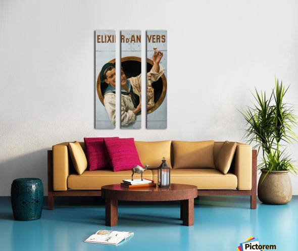 Elixir DAnvers Vintage Advertising Poster Split Canvas print