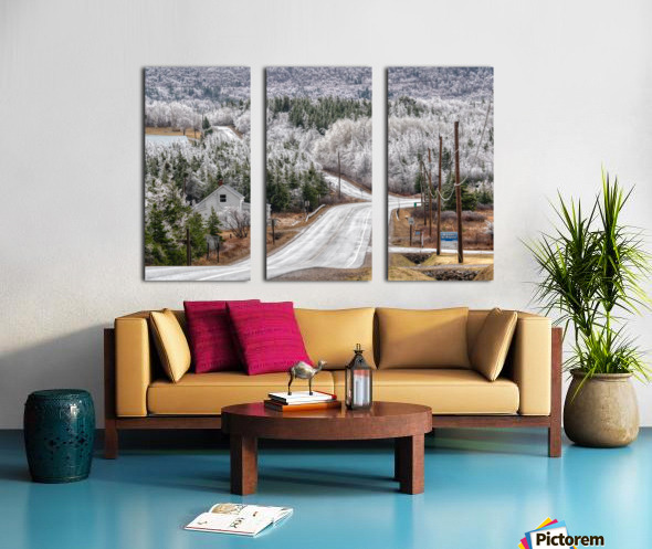 Cheticamp Ice Storm Split Canvas print