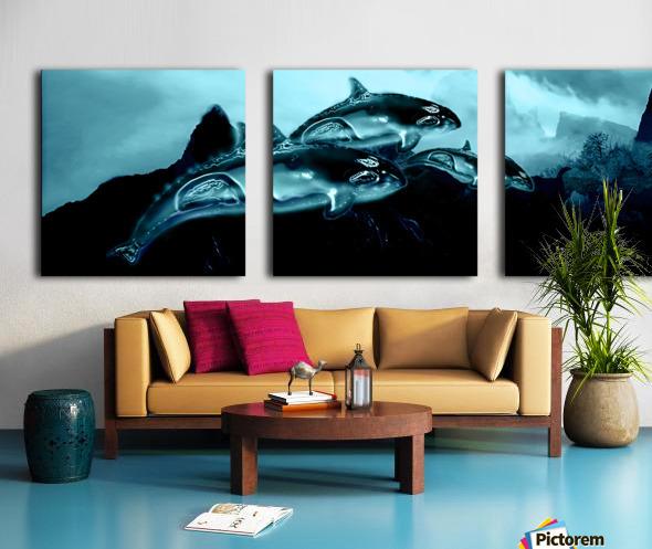 ORCAS LUNARES WIDE 4 Split Canvas print
