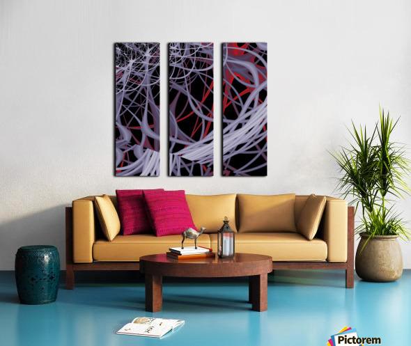 Spaghettification Split Canvas print
