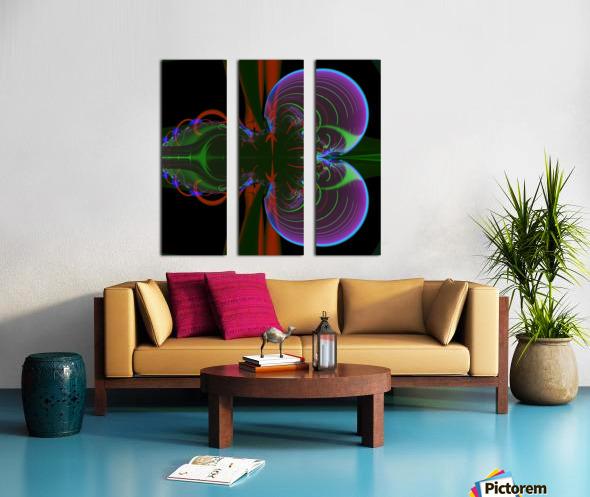 Penetration Split Canvas print