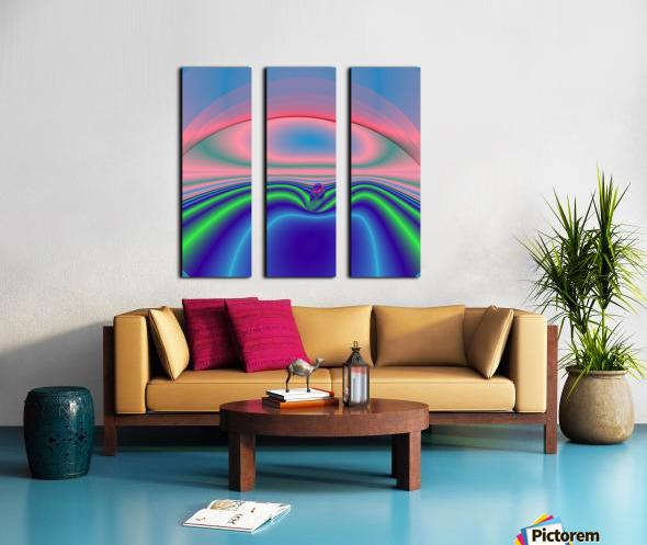 Boat to nowhere Split Canvas print
