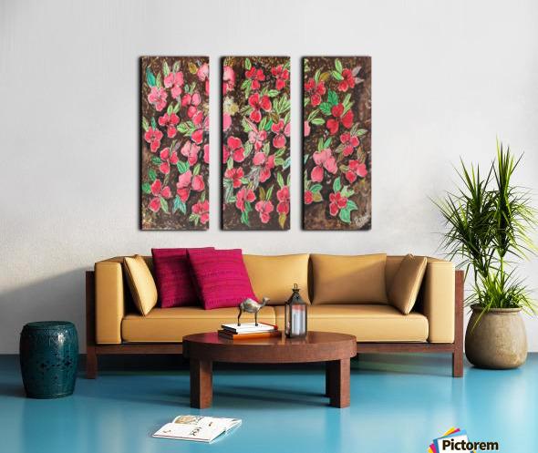 Redflowers Split Canvas print