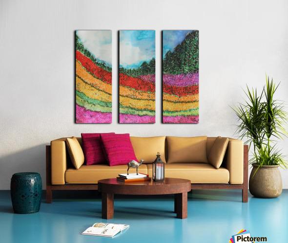 Landscape Split Canvas print