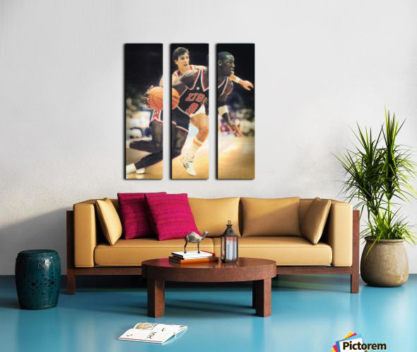 1984 Michael Jordan USA Basketball Art Split Canvas print