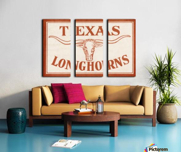 Historic Texas Longhorns Art Split Canvas print