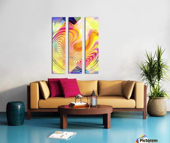 Multicolored Experimental Headache 21 Split Canvas print