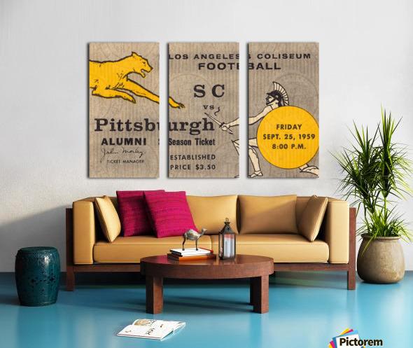 1959 Pittsburgh Panthers vs. USC Trojans Split Canvas print