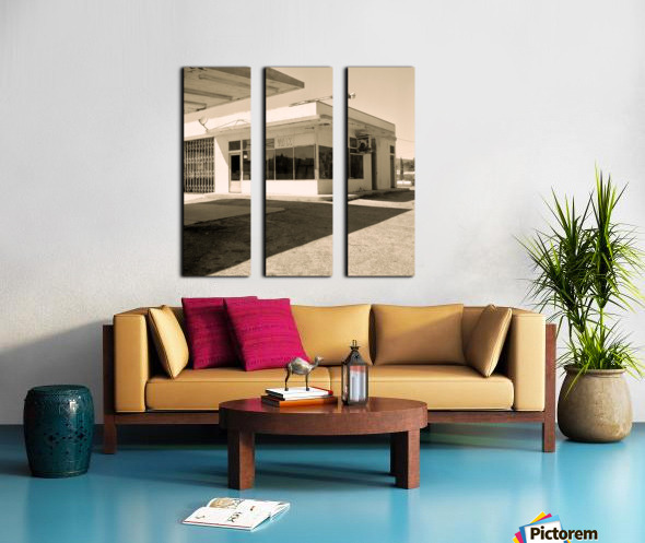 Urban Loneliness - The Gas Station Split Canvas print