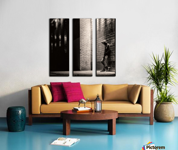 Urban Loneliness - The Lonely Teen Split Canvas print