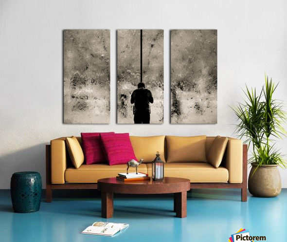 Urban Loneliness - Rain Split Canvas print