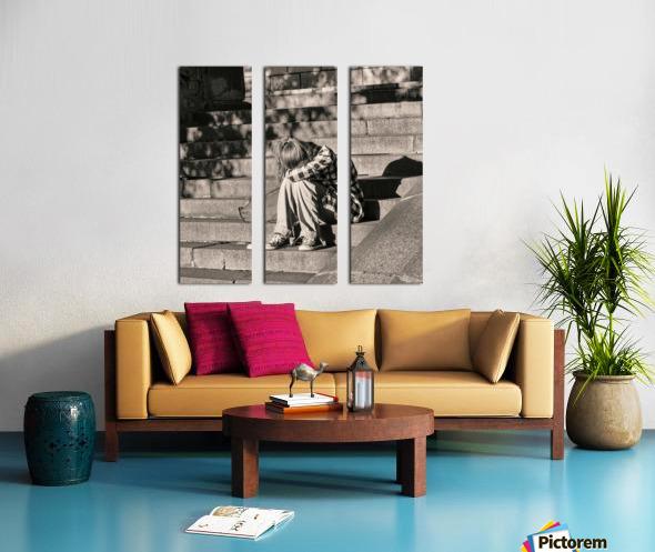 Urban Loneliness - Crying Split Canvas print