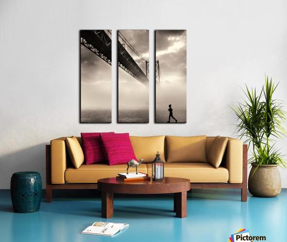 Urban Loneliness - The Bridge Split Canvas print