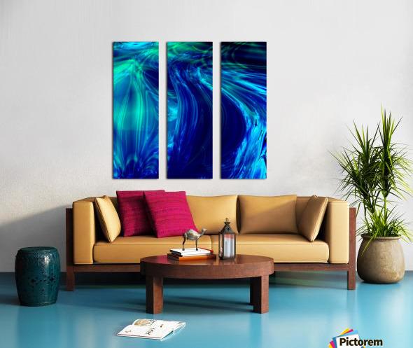 Glasswaves Split Canvas print