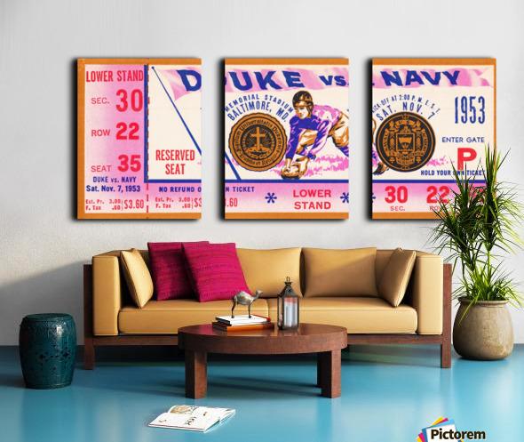 1953 Duke vs. Navy  Split Canvas print