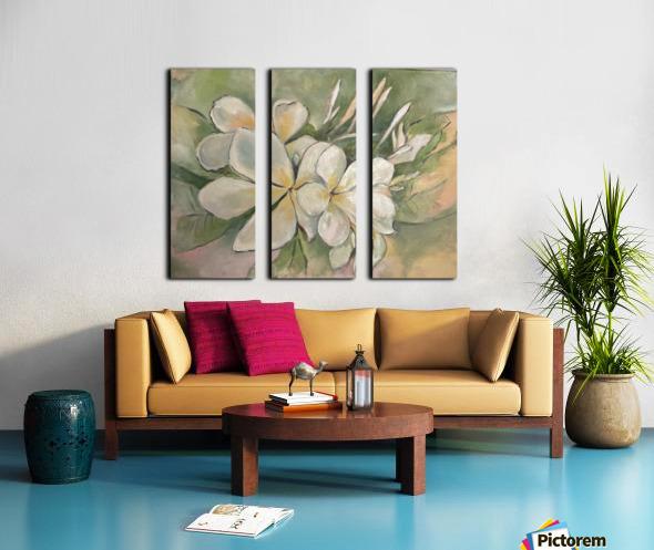 Plumeria  Split Canvas print