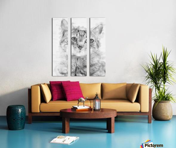Kitten Noir Split Canvas print