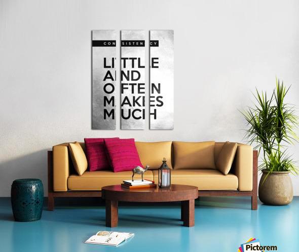 little and often Motivational Wall Art Split Canvas print
