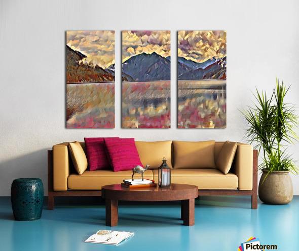 Lake Crescent Split Canvas print