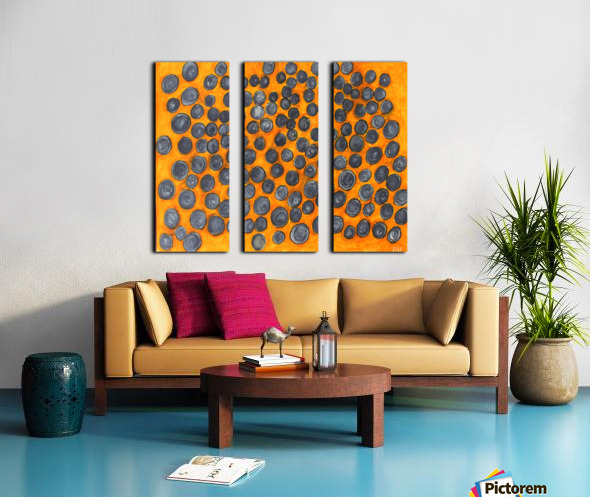 Blueberries Split Canvas print