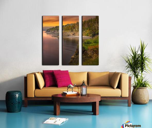 Vue Ouest Anse St-Georges Split Canvas print