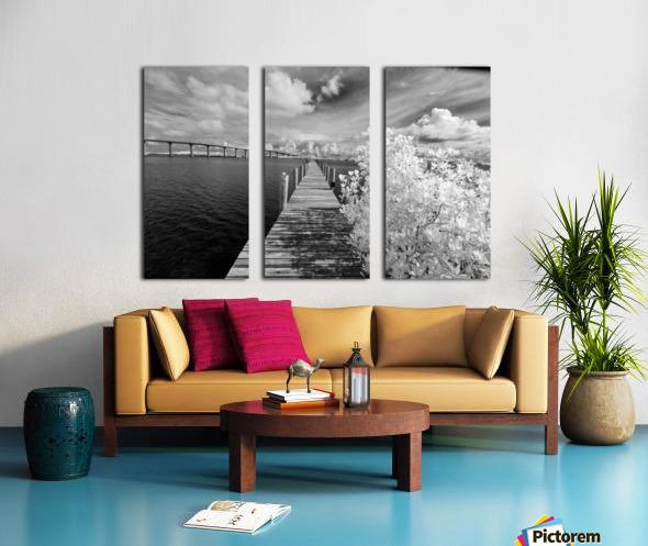 Wabasso Causeway Florida with boat dock Split Canvas print