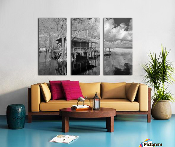 Fish Camp at Blue Cypress Lake Florida Split Canvas print
